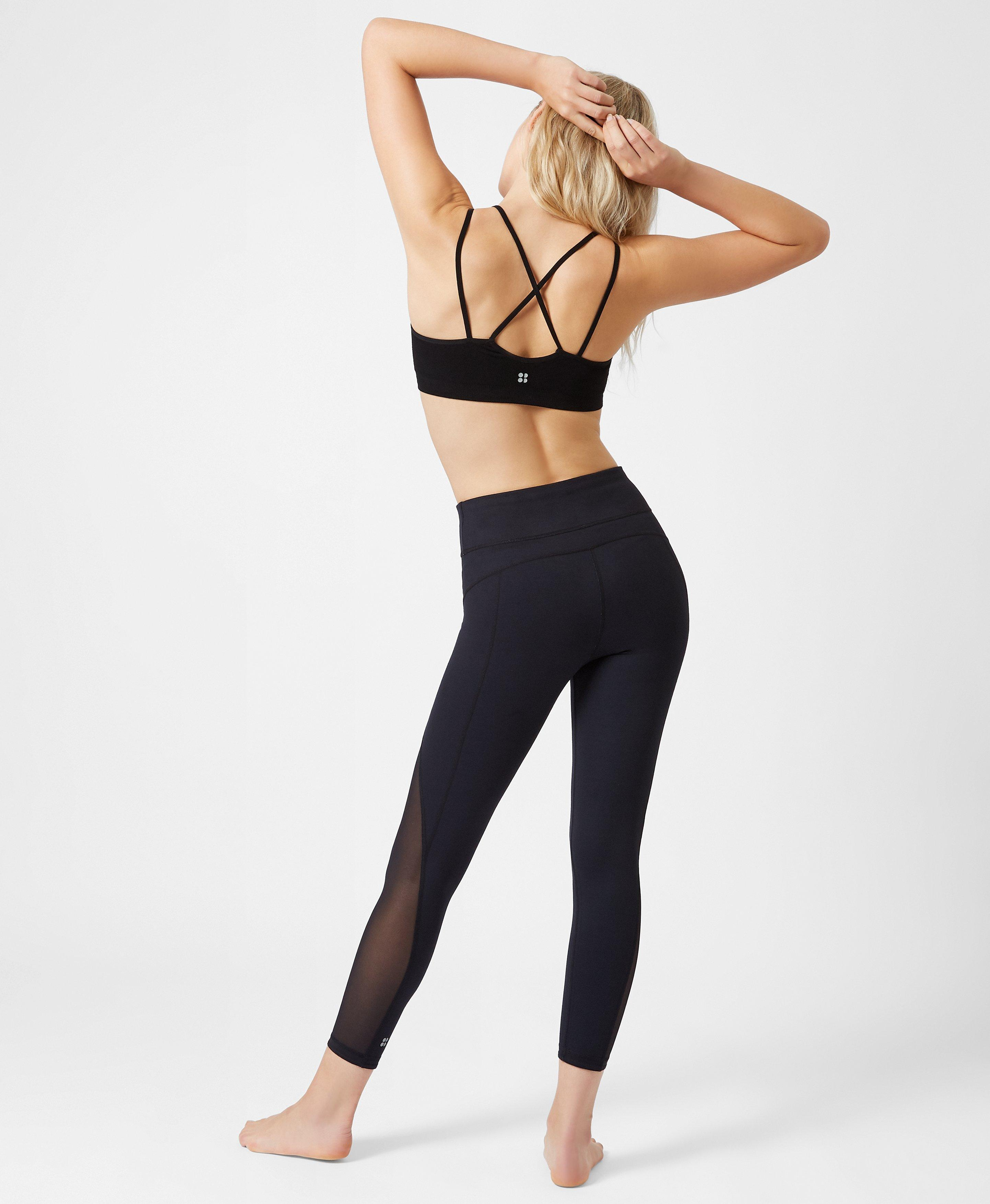 Lyst - Sweaty Betty Brahma Padded Bamboo Yoga Bra in Black a377d7f40