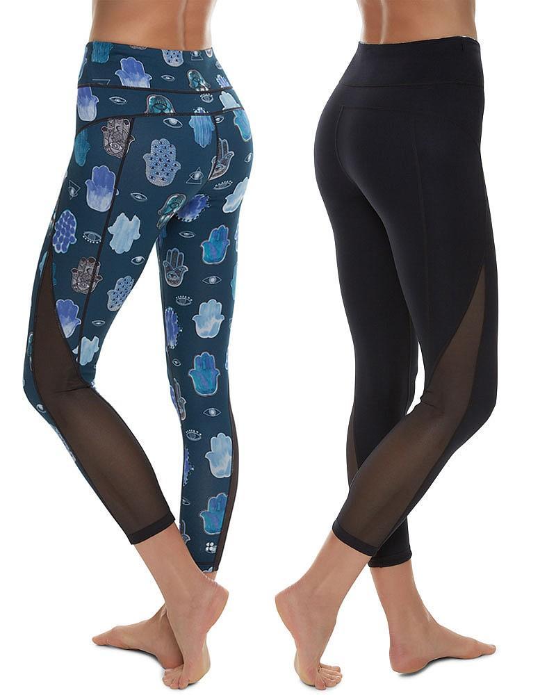 8219d5bbf0af4 Sweaty Betty Chandrasana 7/8 Reversible Leggings in Blue - Lyst