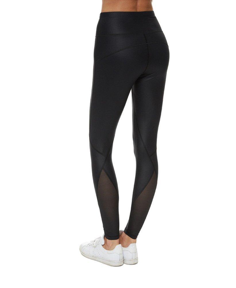 3d2bd0e24aadb Lyst - Sweaty Betty Frey Wet Look Luxe Leggings in Black