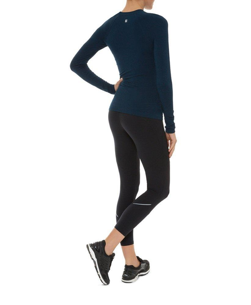 ae61f6727fd6a Sweaty Betty - Blue Glisten Bamboo Long Sleeve Workout Top - Lyst. View  fullscreen