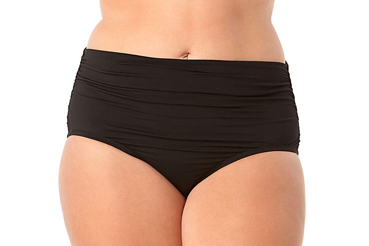 c1f1a48096 Anne Cole. Women's Black Plus Size Live In Color Convertible High Waist To Foldover  Shirred Bikini Swim Bottom
