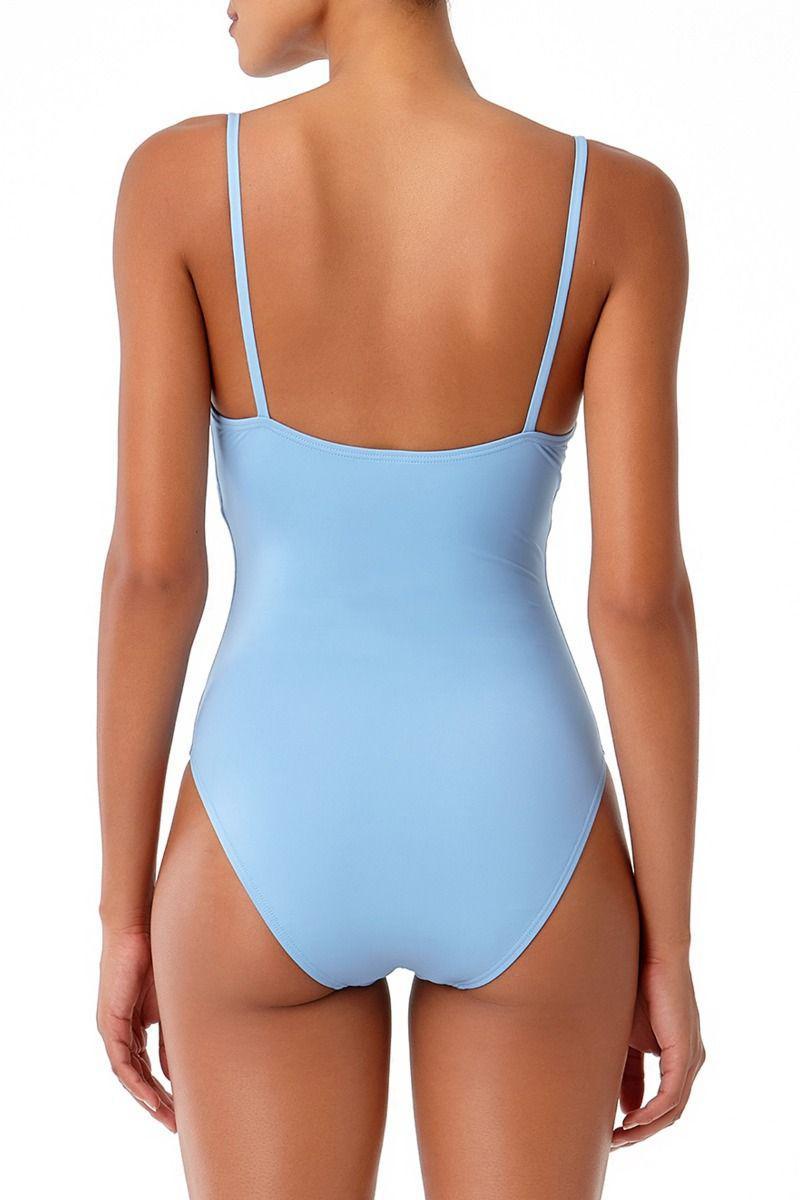 64b461ace77bed Anne Cole - Blue Studio Vintage Lingerie Maillot One Piece Swimsuit - Lyst.  View fullscreen