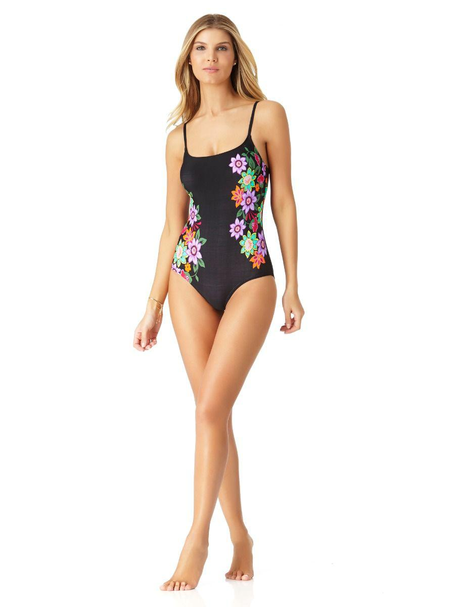 b001f9cb5f1 Anne Cole Engineered Floral Lingerie Maillot One Piece Swimsuit in ...