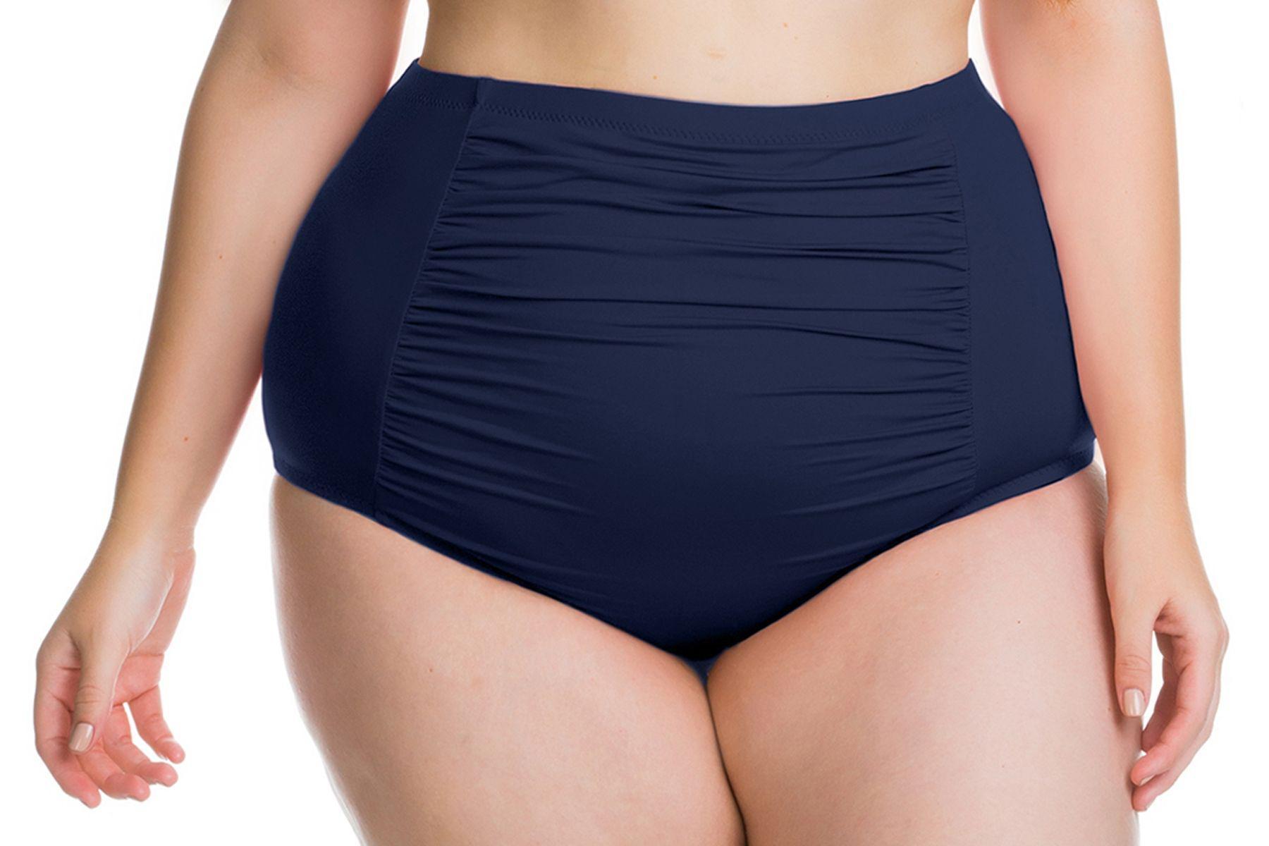 74dd6650ae Becca. Women s Blue Etcplus Size Color Splash Vintage Cut High Waist Pant Swim  Bottom