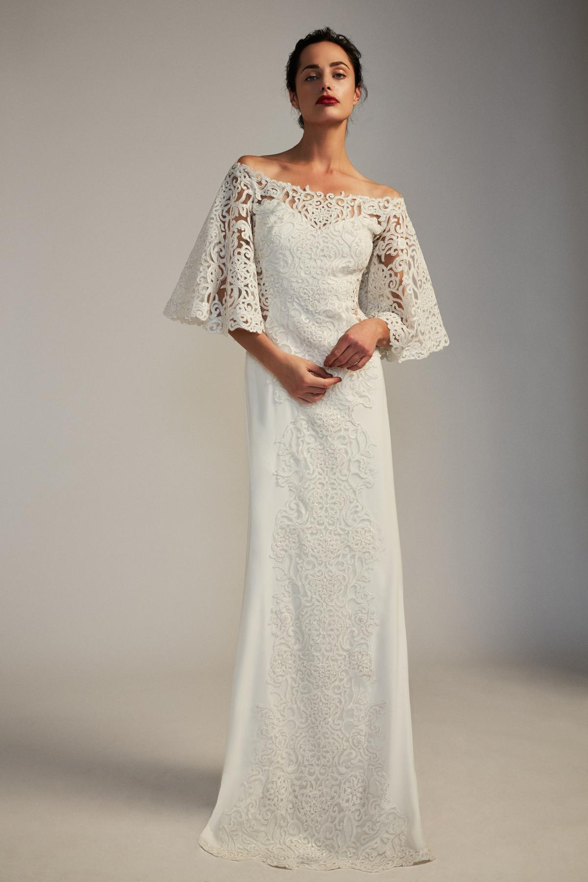 Lyst - Tadashi Shoji Clancy Gown in White