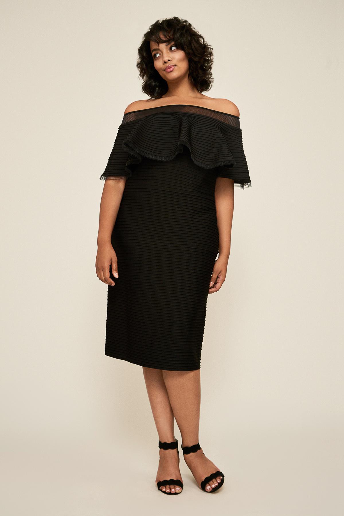 15e994c27e1 Lyst - Tadashi Shoji Tabora Off-the-shoulder Dress - Plus Size in Black