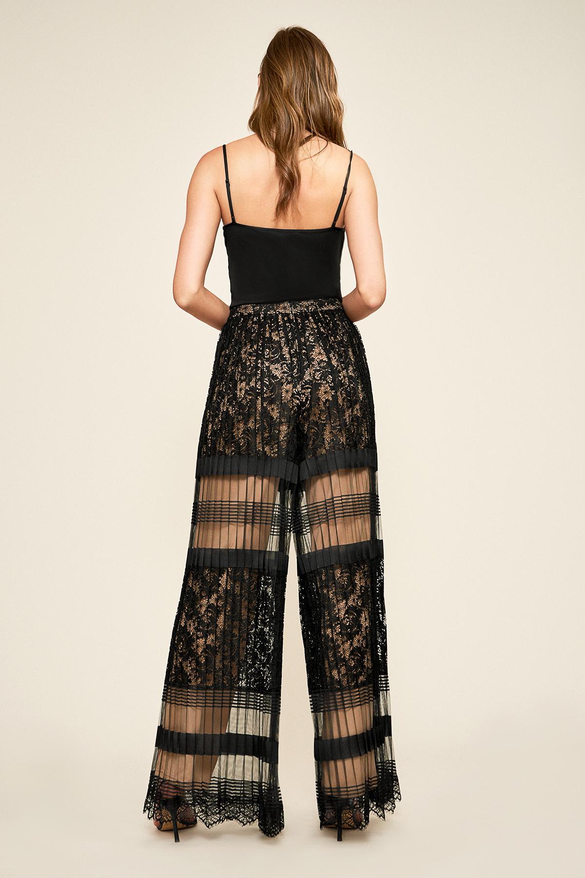 0d3ac5a76cd Tadashi Shoji - Black Dover Pleated Lace Pant - Lyst. View fullscreen