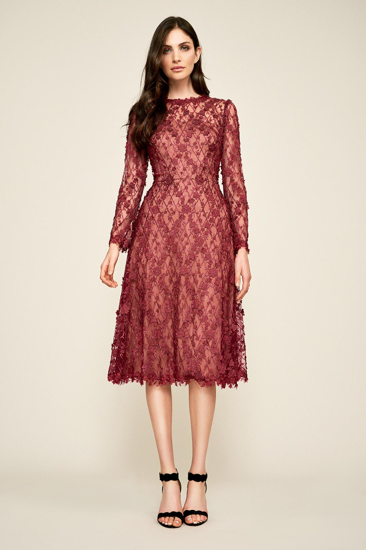 c94fe81e0c003 Tadashi Shoji. Women s Red Binx Embroidery Tea-length Dress