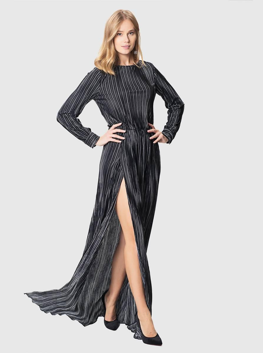 Lyst - Roman Striped Gown With Slit
