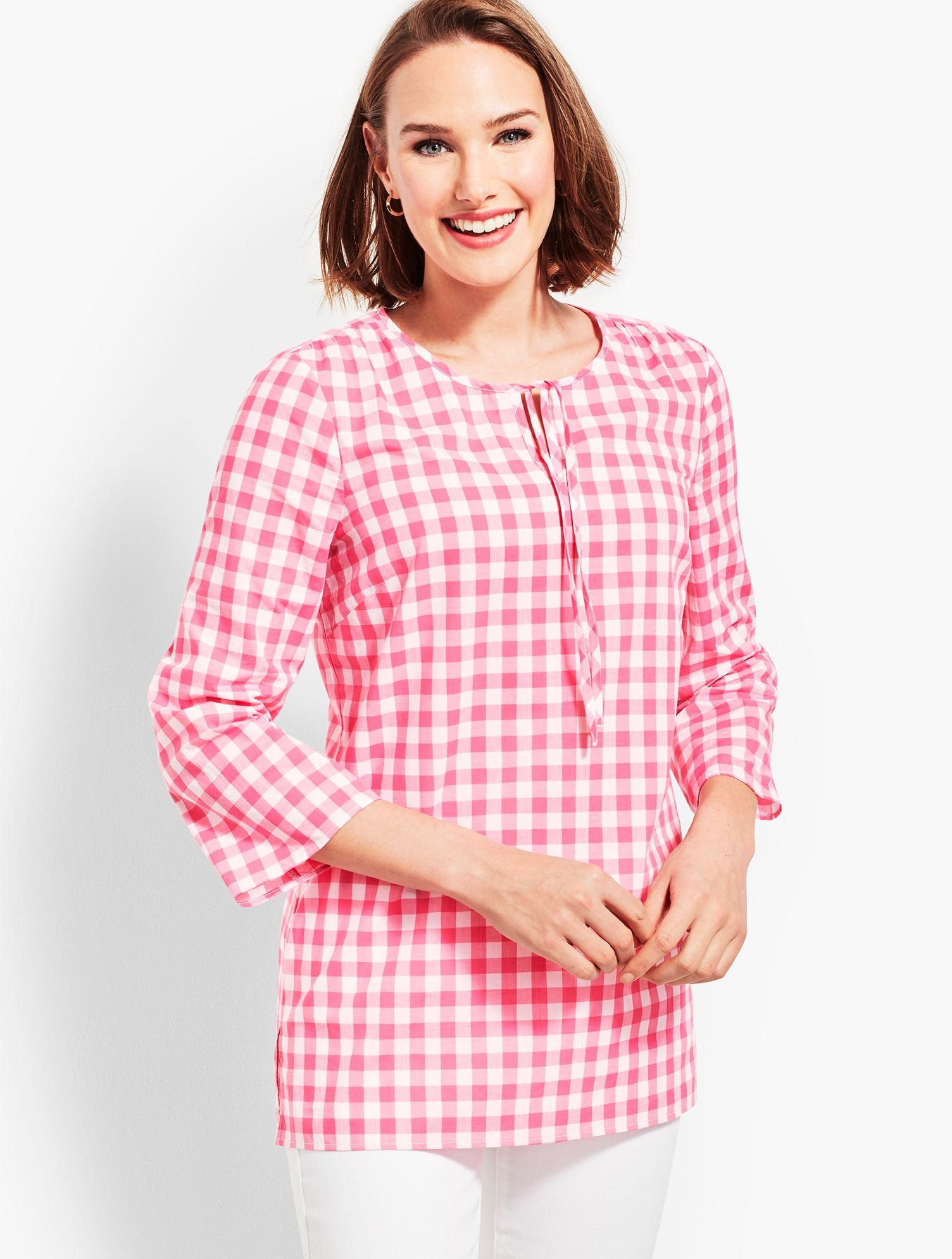5d68ea146a8494 Lyst - Talbots Tie-front Top in Pink