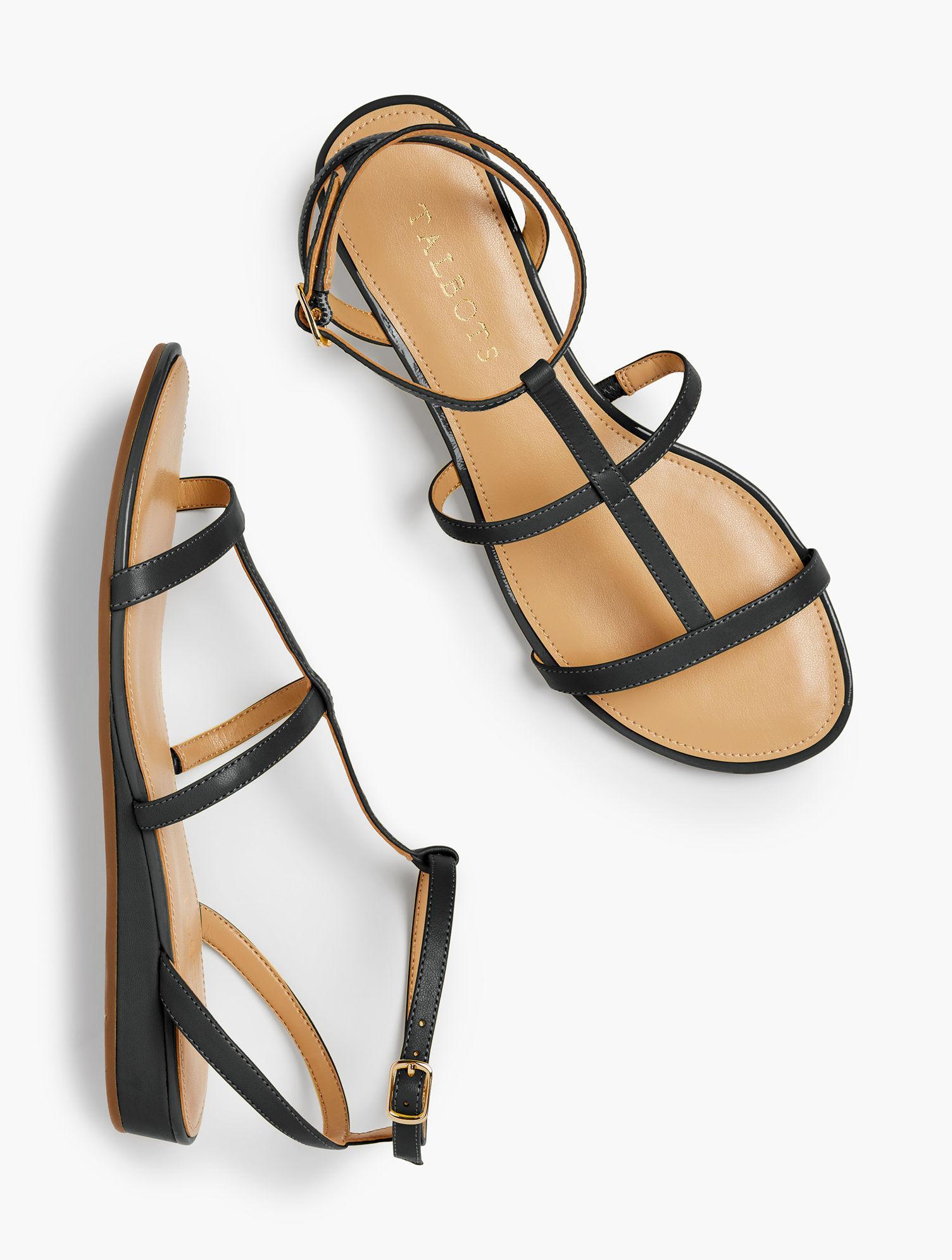 9510e966e Talbots - Black Daisy Gladiator Micro-wedge Sandals - Lyst. View fullscreen