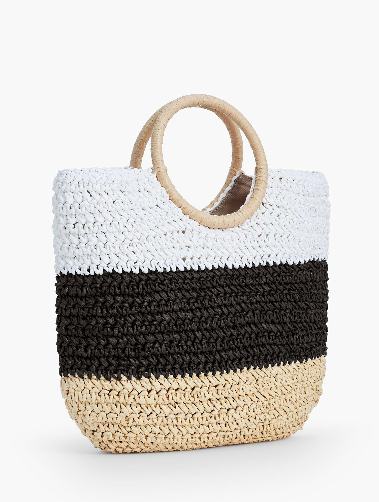 Talbots Synthetic Crochet Straw Circle-handled Tote