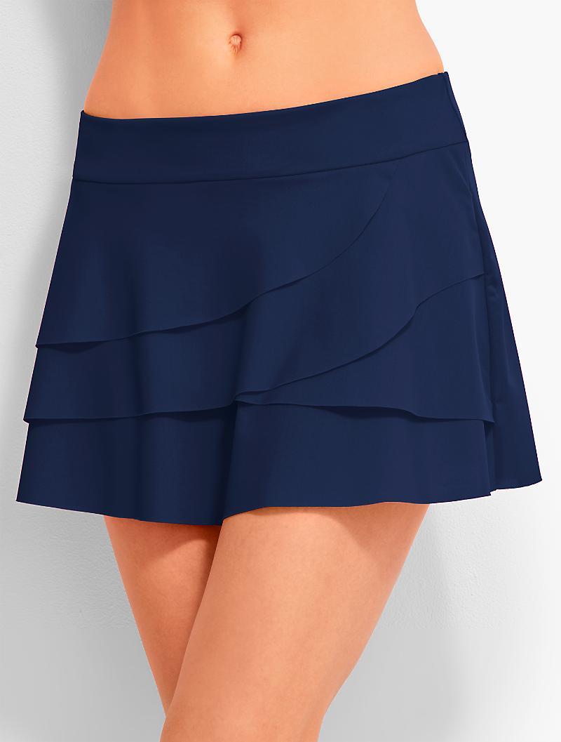 Talbots Ruffled Swim Skirt Miraclesuit 174 In Blue Lyst