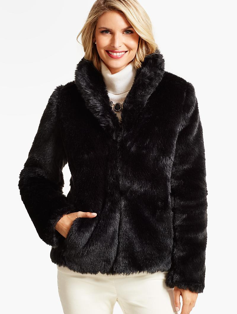 Search River Island. Black faux fur aviator jacket +1; Quick view. Add to wishlist. £ Black mixed check wool coat. Quick view. Add to wishlist. £ Black suede faux fur trim biker jacket. Quick view. Add to wishlist. £ £