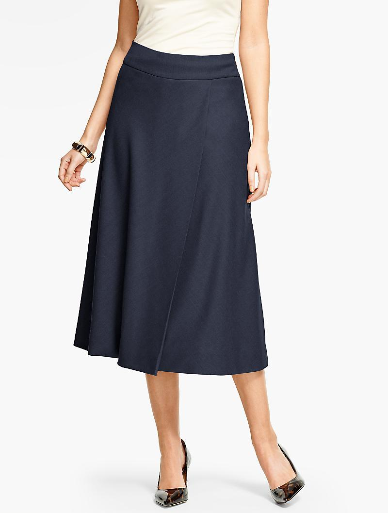 9c2b381df53 Lyst - Talbots Italian Flannel Riding Skirt in Blue