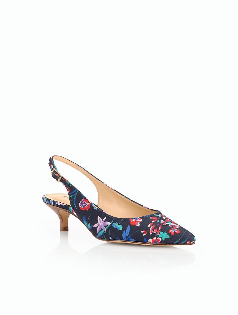 Talbots Pippa Kitten-heel Pumps-flower Botanical in Blue ...