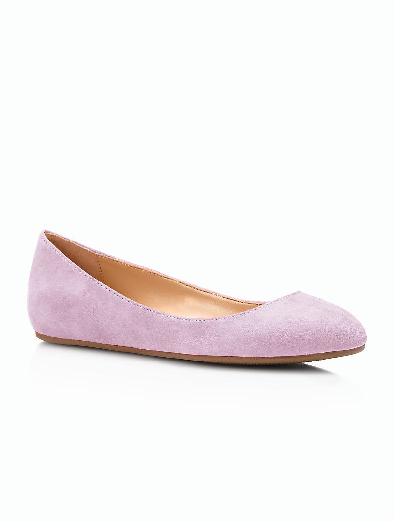 Frosted feet pink suede heels - 3 1