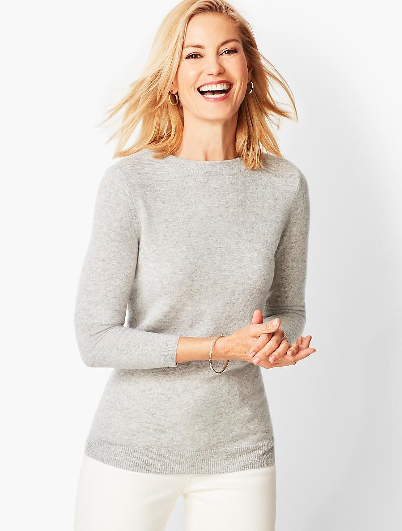 154dab68a Lyst - Talbots Audrey Cashmere Sweater - Solid in Gray