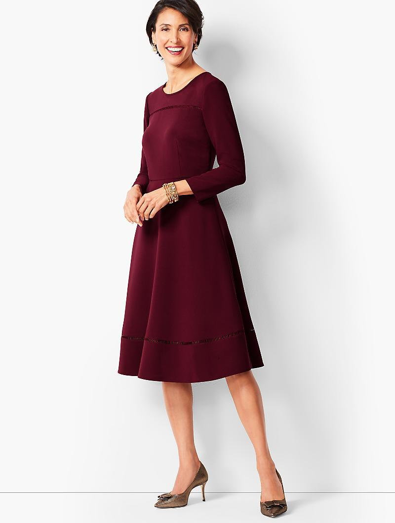 d223cb9167a Lyst - Talbots Tailored Crepe Fit   Flare Dress in Red