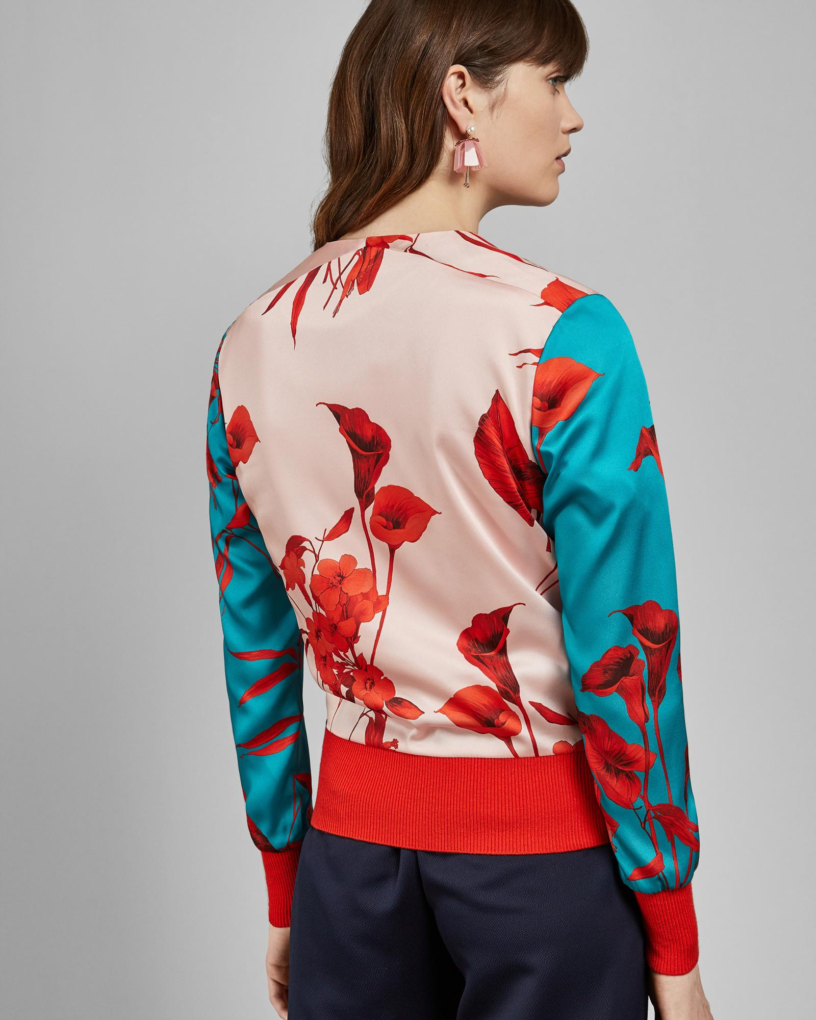 c5cc52f9f Ted Baker - Multicolor Fantasia Knitted Bomber Jacket - Lyst. View  fullscreen
