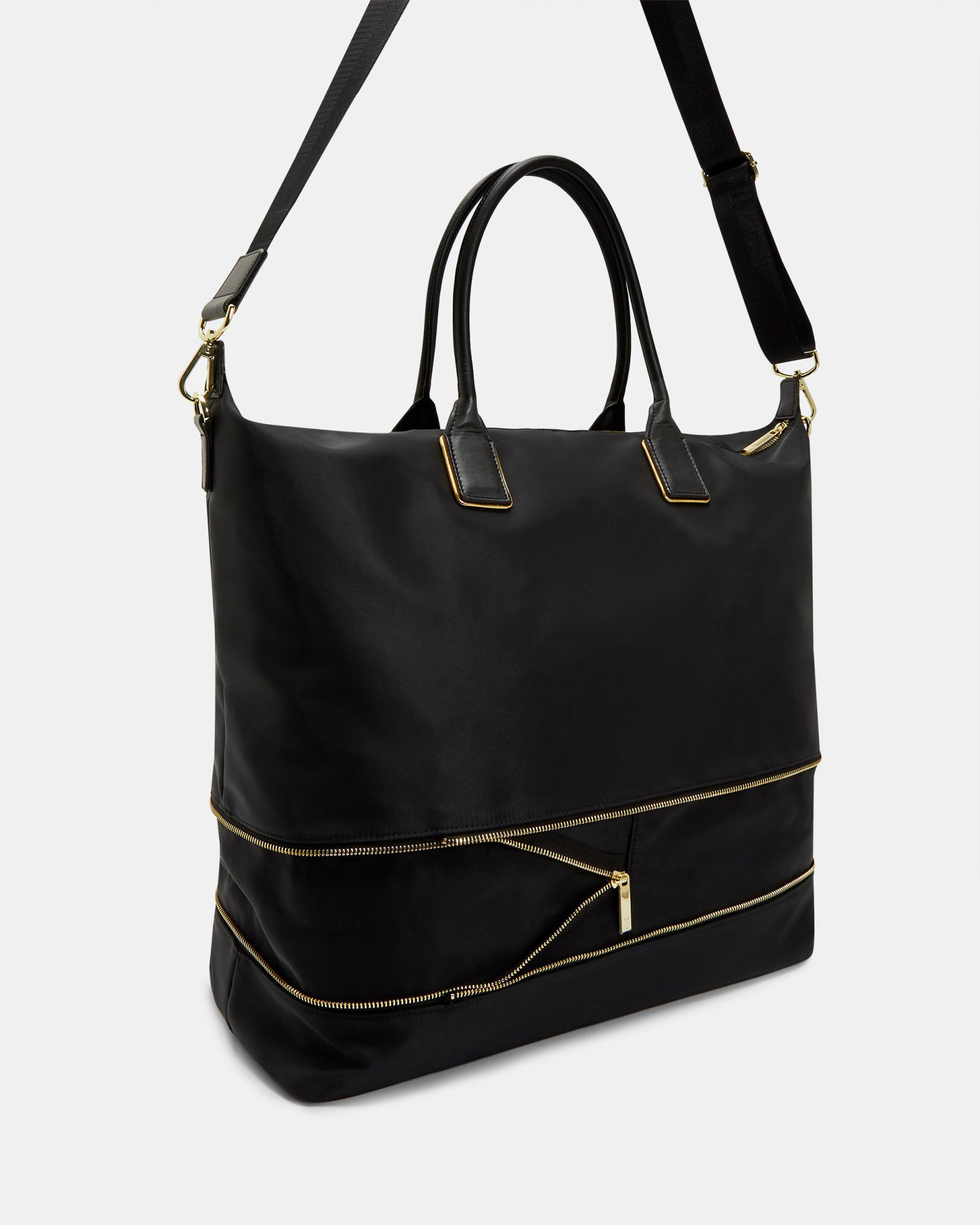 830756ddcfddc Lyst - Ted Baker Extendable Nylon Tote Bag in Black