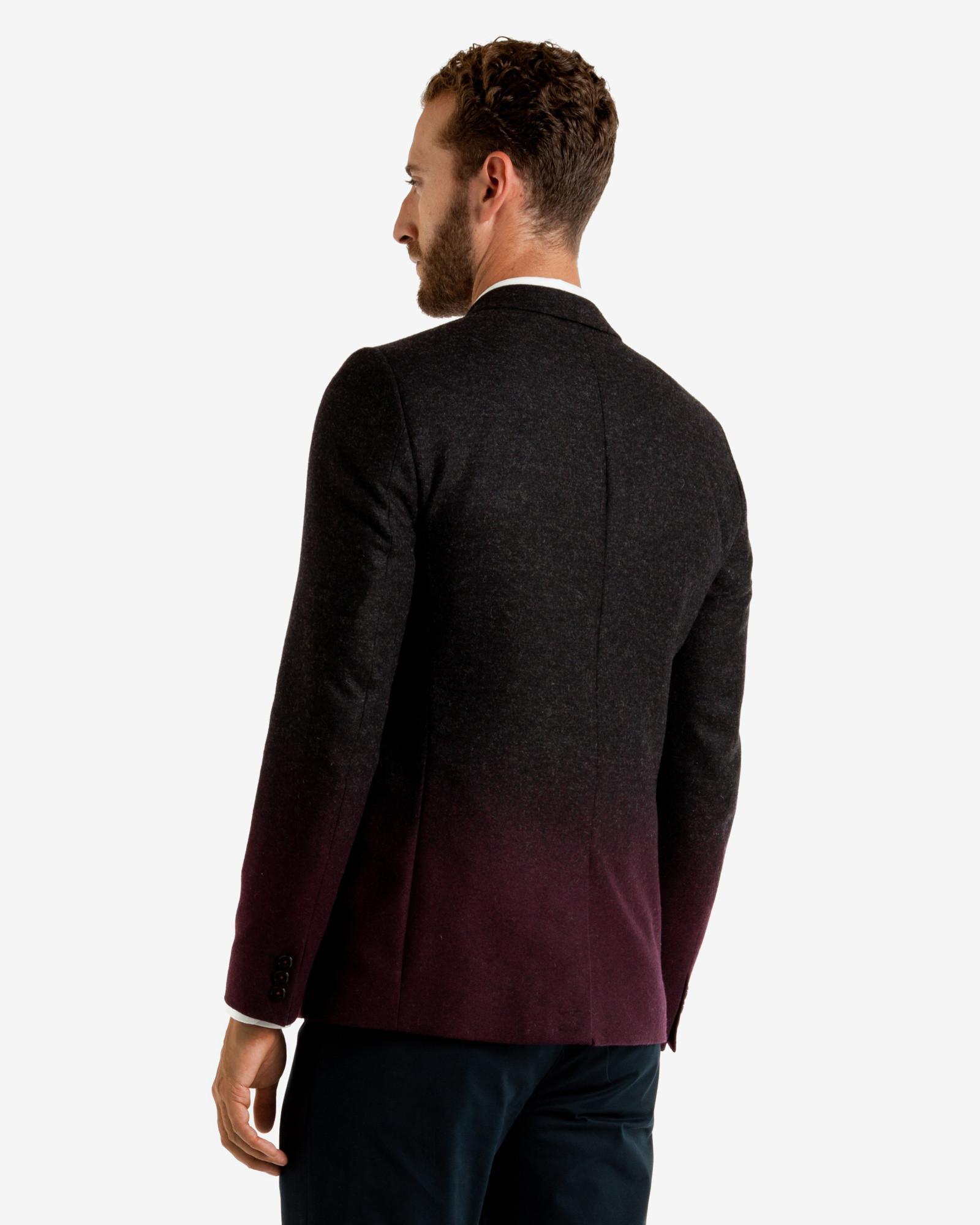 Ted Baker Ombré Wool Blazer in Charcoal (Grey) for Men