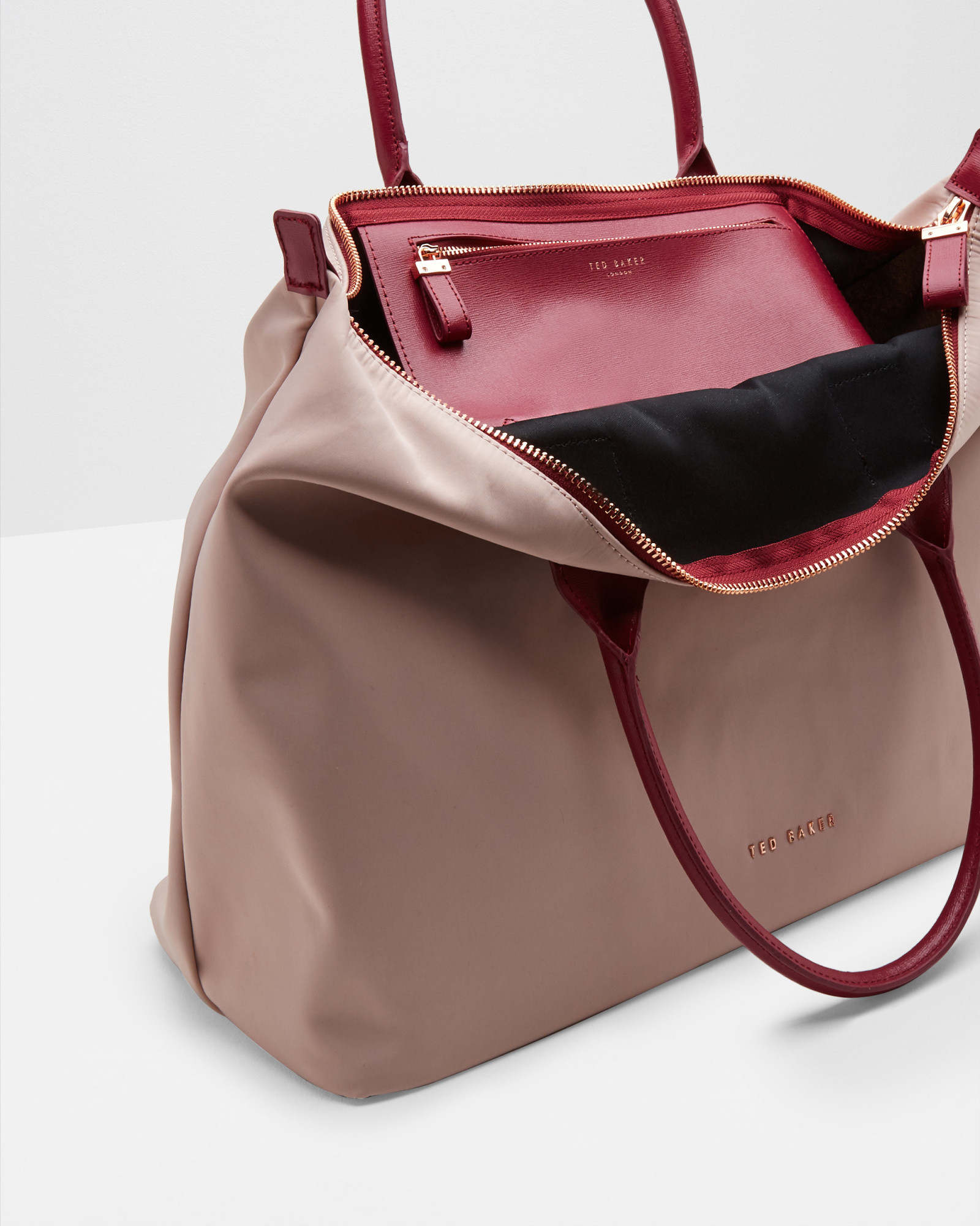 Ted Baker Leather Classic Large Tote Bag in Pink