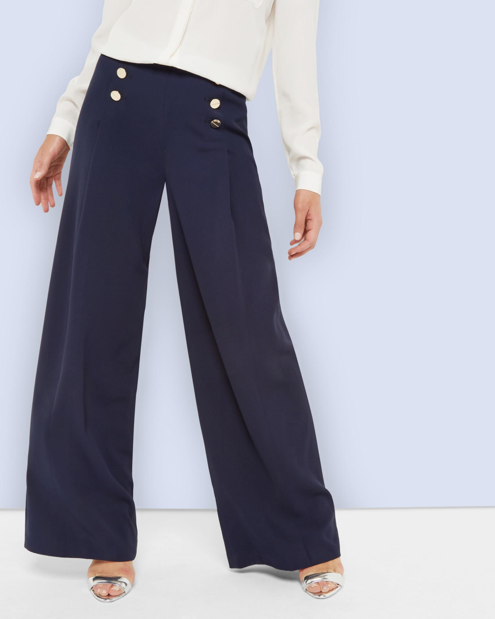 f3e80e30b Ted Baker Wide Leg Sailor Trousers in Blue - Lyst