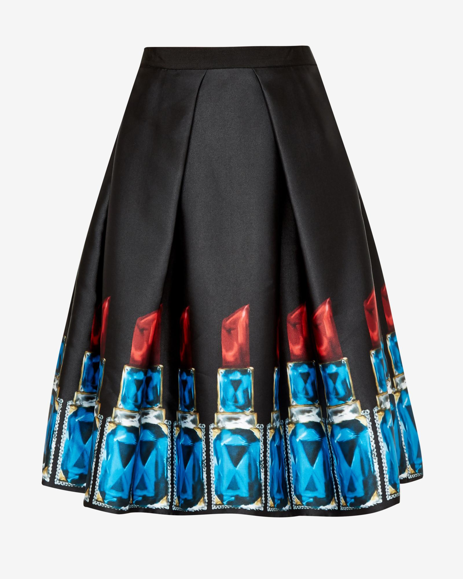 Ted Baker Synthetic Jewelled Lipstick Full Skirt in Black
