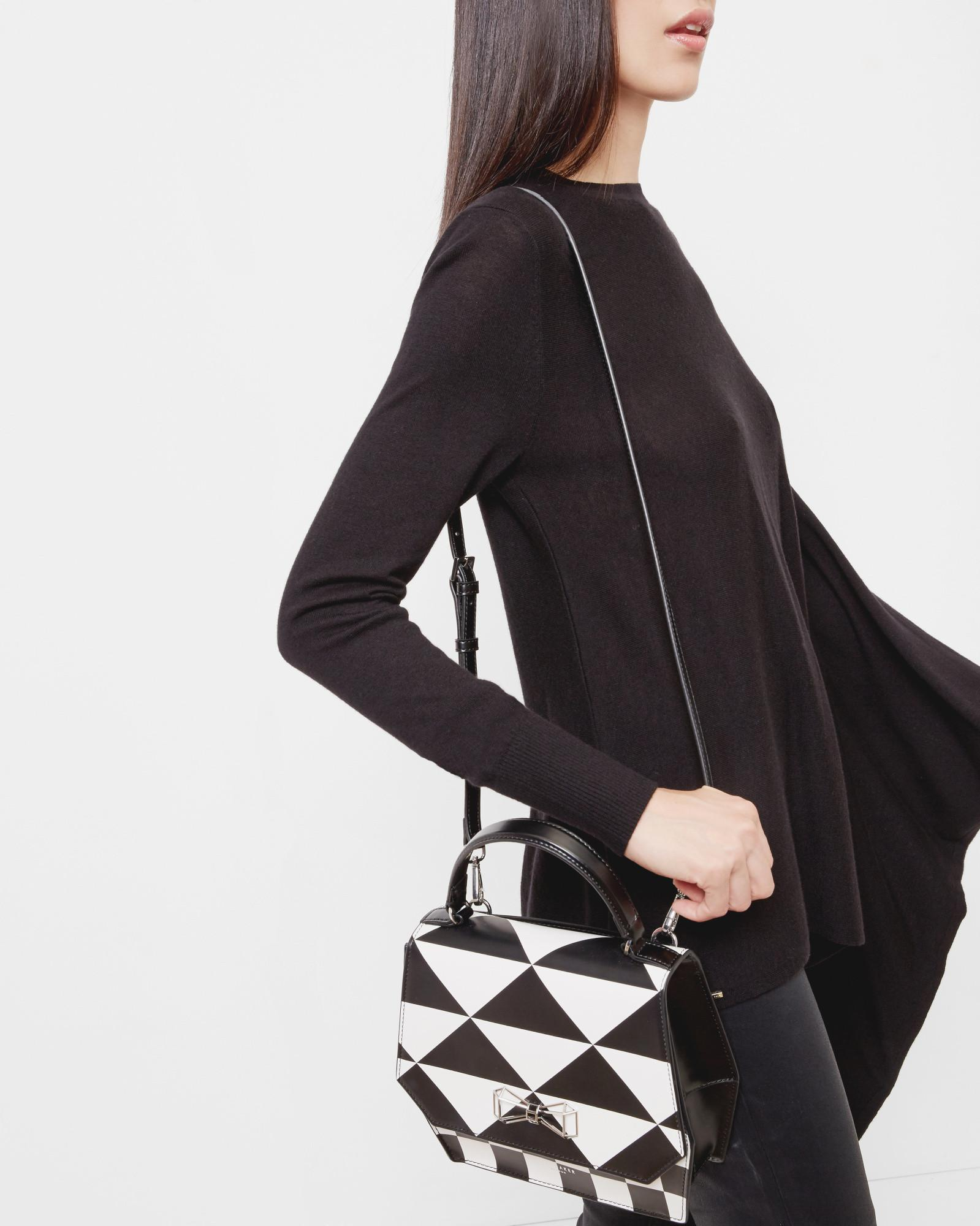 Ted Baker Leather Geometric Bow Cross Body Bag