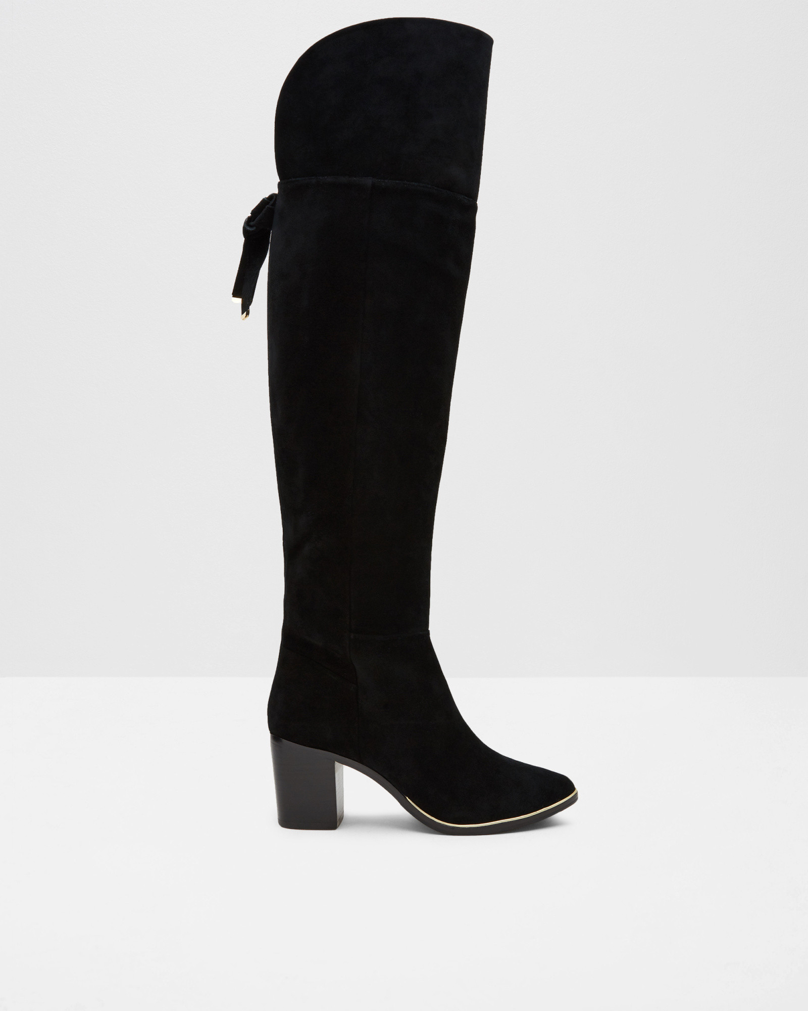 e81cc9d17 Lyst - Ted Baker Suede Over The Knee Boots in Black