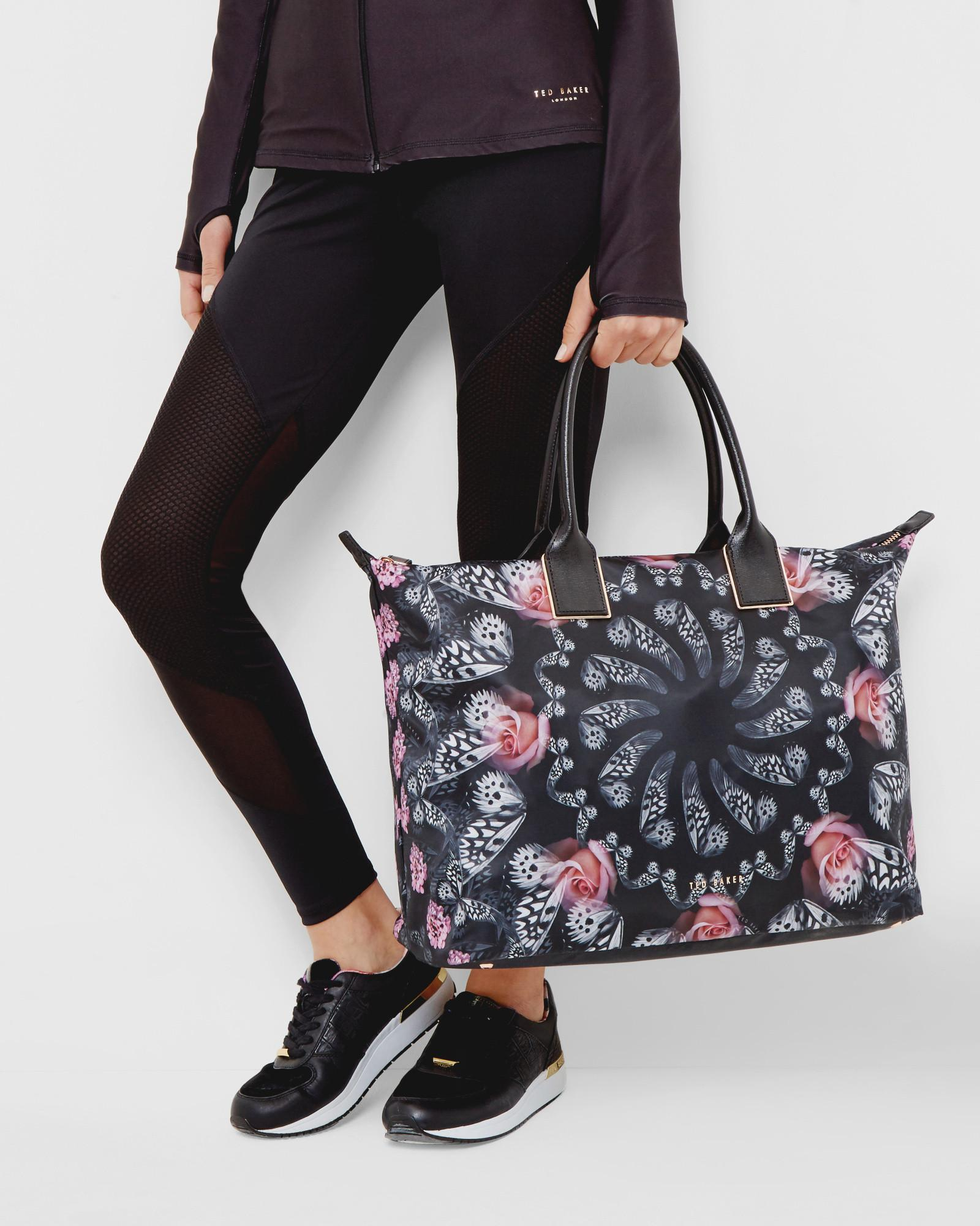 Ted Baker Synthetic Dynamic Butterfly Print Tote Bag in Black
