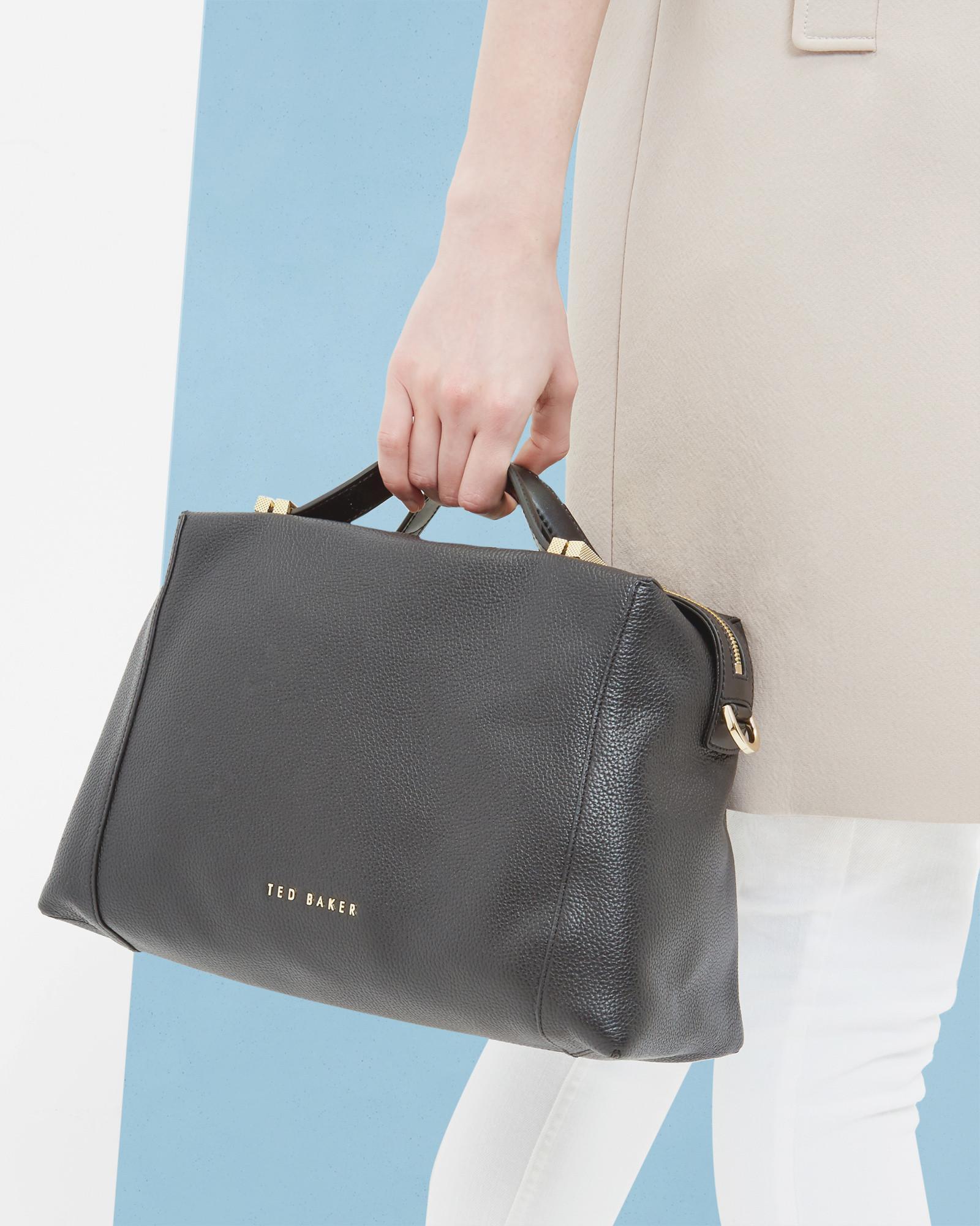 7dd022d06 Lyst - Ted Baker Pop Handle Large Tote Bag in Black