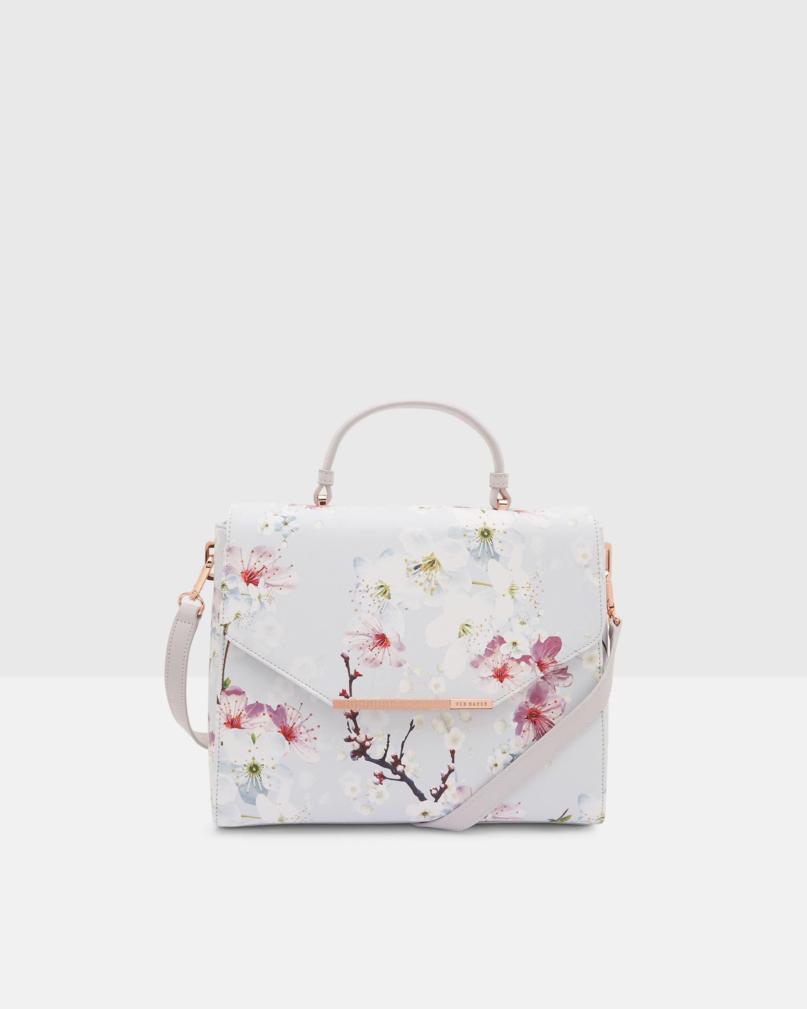 7634966e79fb Lyst - Ted Baker Oriental Blossom Tote Bag in Gray