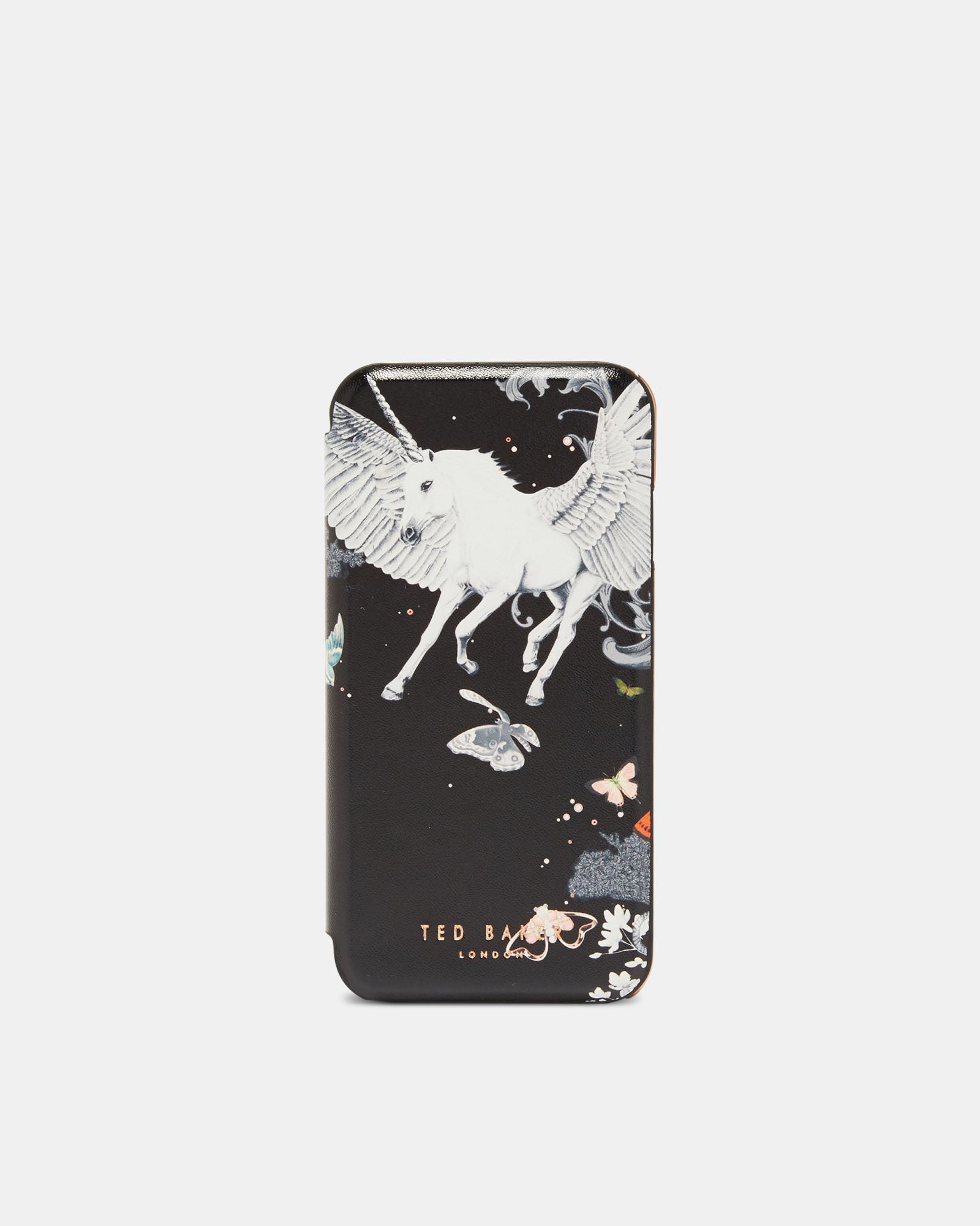 quality design 86317 c2bf3 Ted Baker Black Enchanted Dream Iphone Flip Case