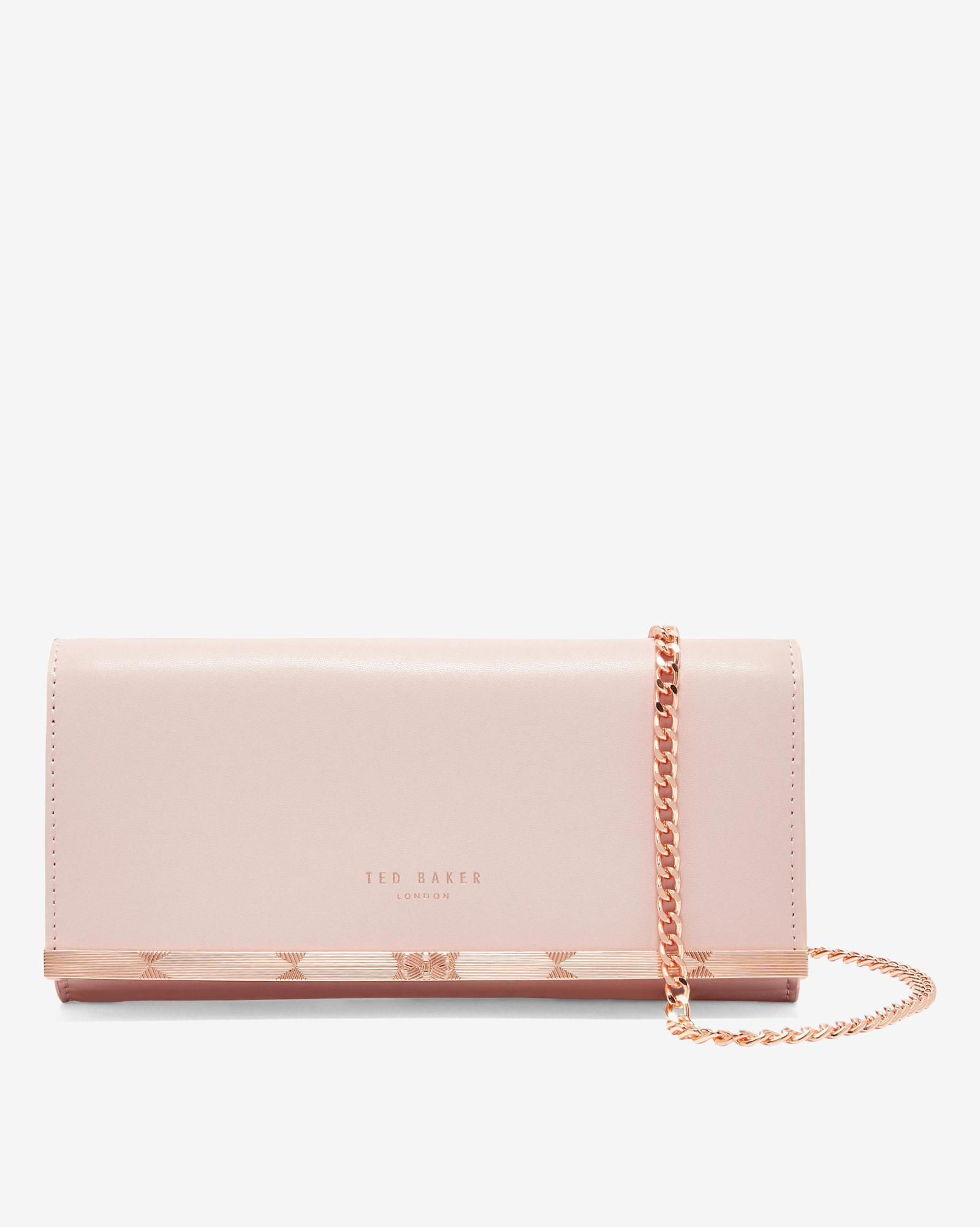 2e6dd911755 Lyst - Ted Baker Metal Bar Matinee With Chain in Pink