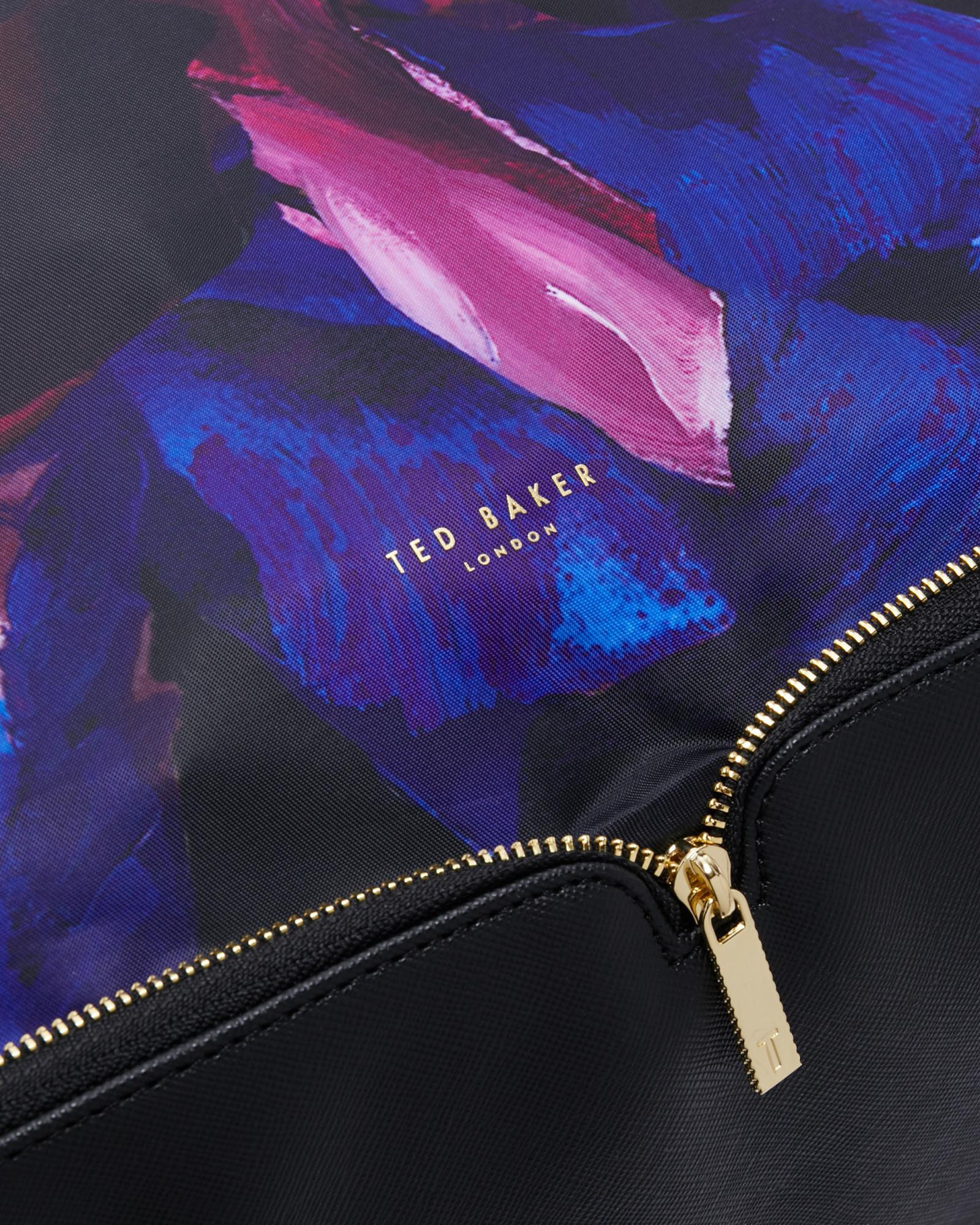 c1f6c440bbcec0 Ted Baker Impressionist Bloom Foldaway Shopper Bag in Black - Lyst