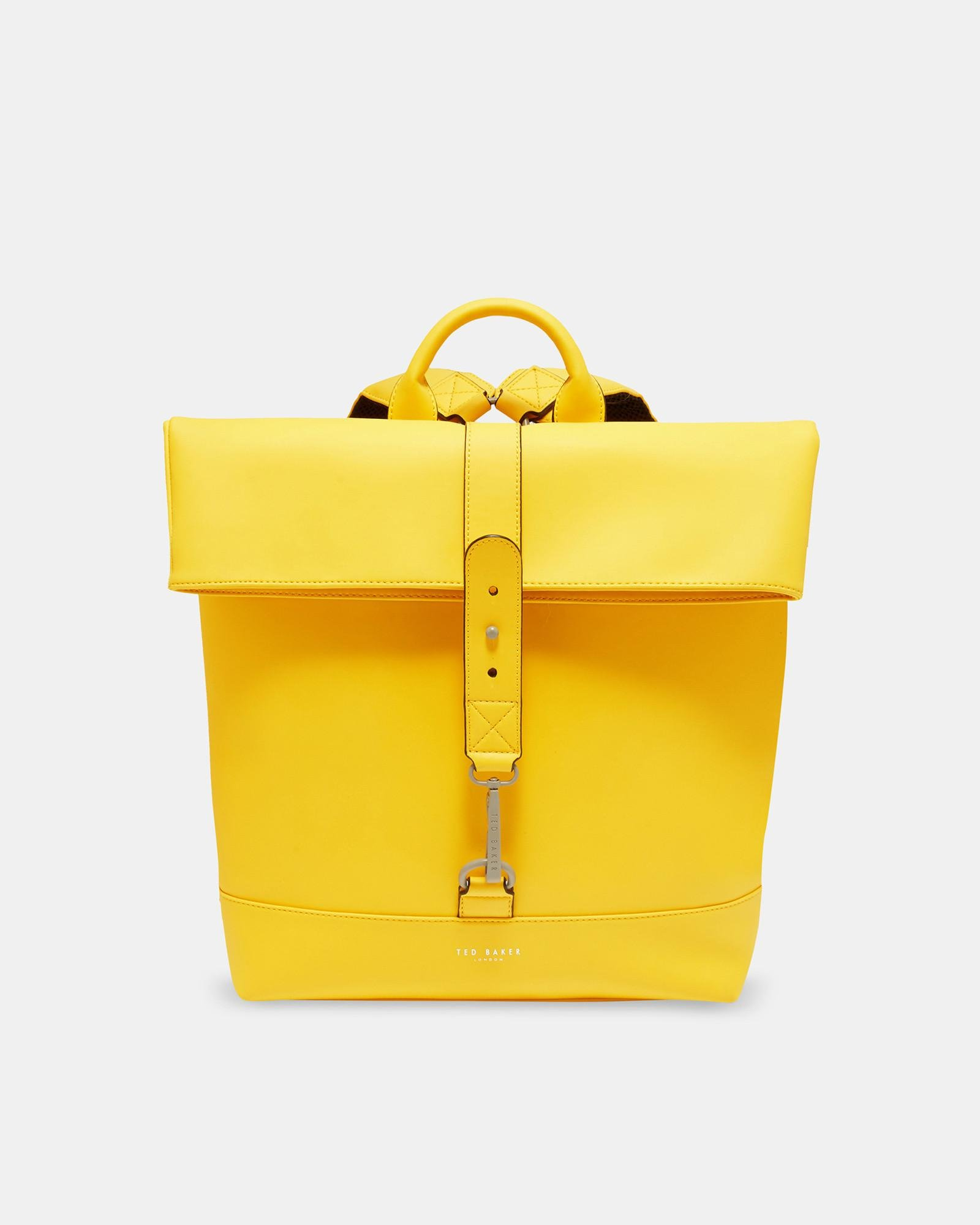 86e11125b0ab4 Lyst - Ted Baker Rubber-look Backpack in Yellow