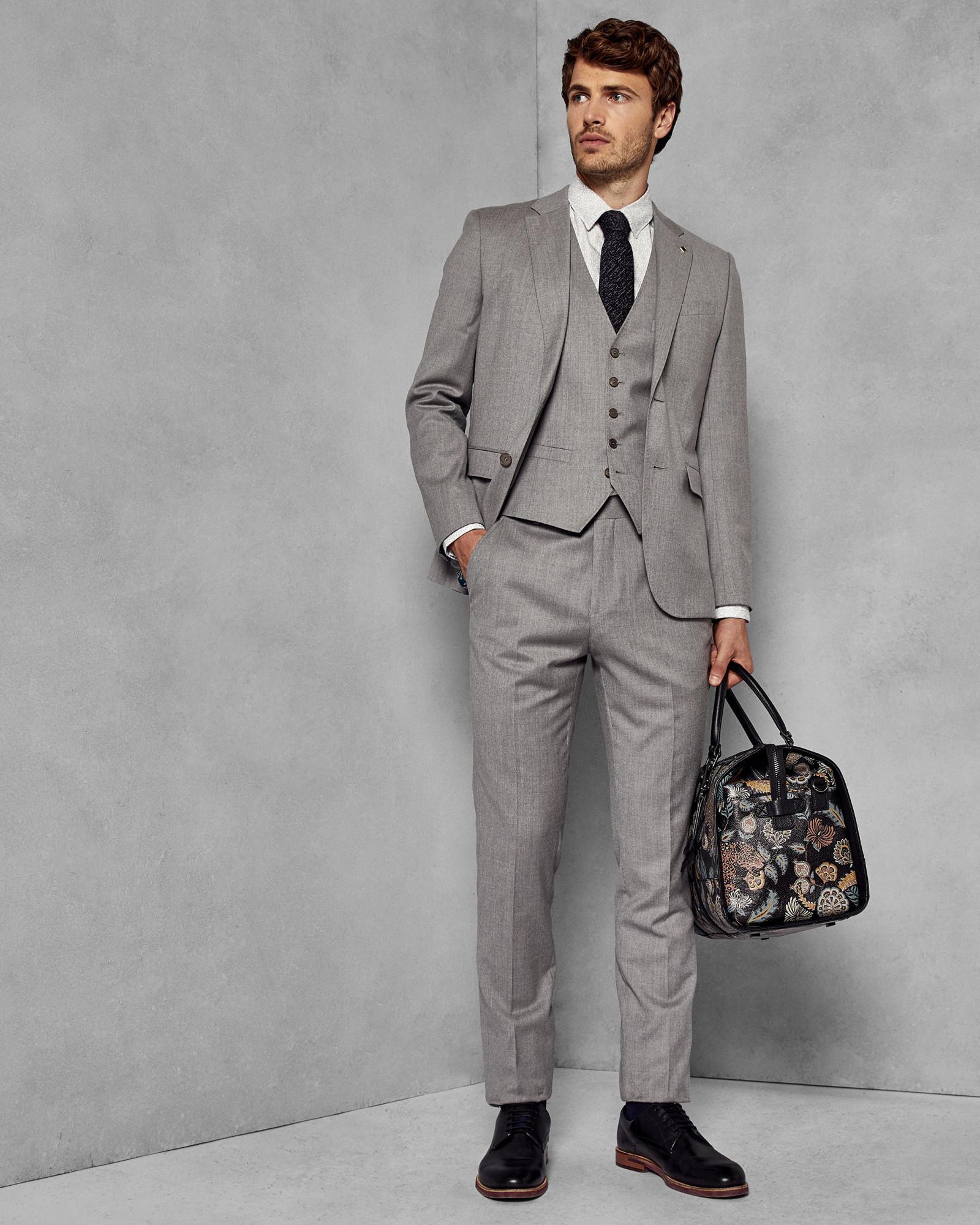 ccb75e77c65055 Ted Baker Debonair Skinny Wool Suit Jacket in Gray for Men - Lyst