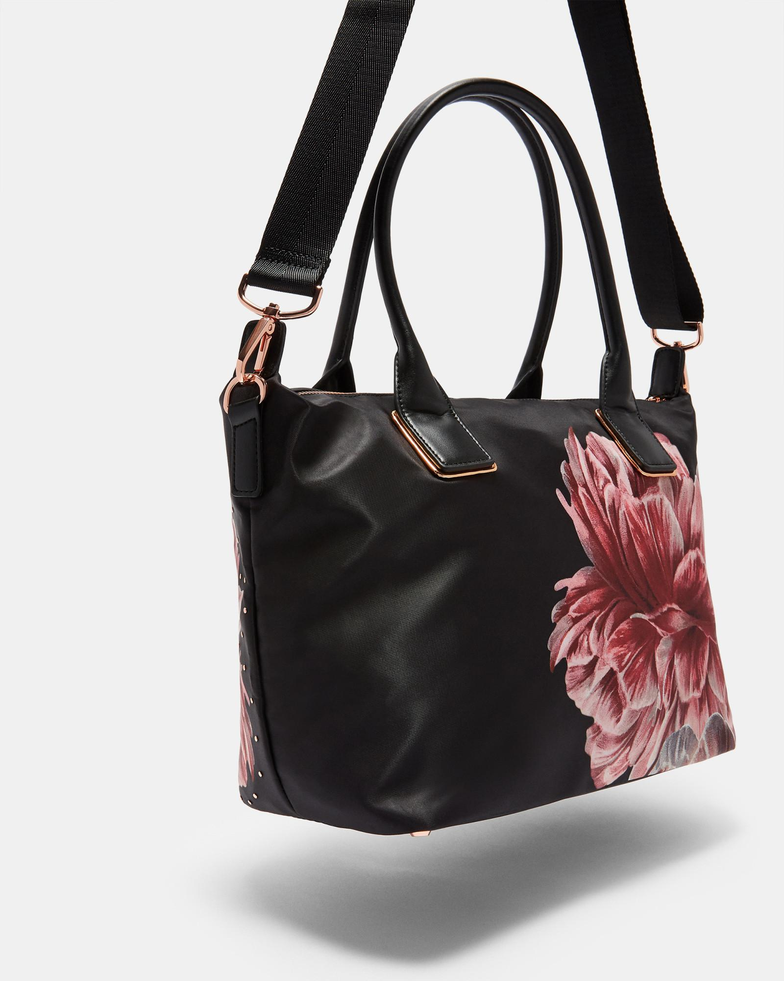 68987a9d5a7bb6 Ted baker tranquility small nylon tote in black lyst jpg 1600x2000 Tote bag  tranquility floral