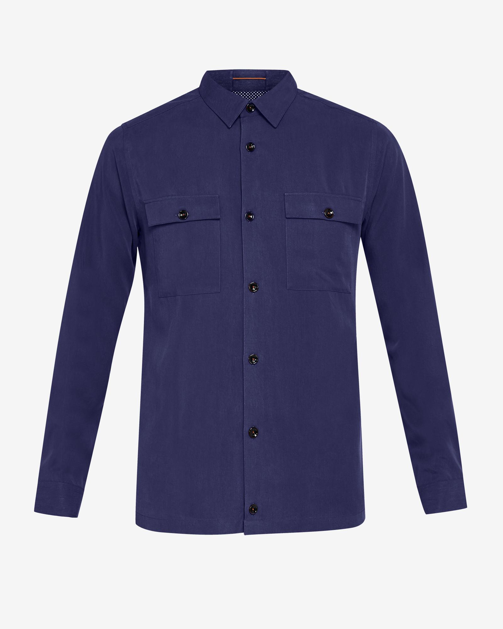 e33b851e8 Ted Baker Shirt in Blue for Men - Lyst