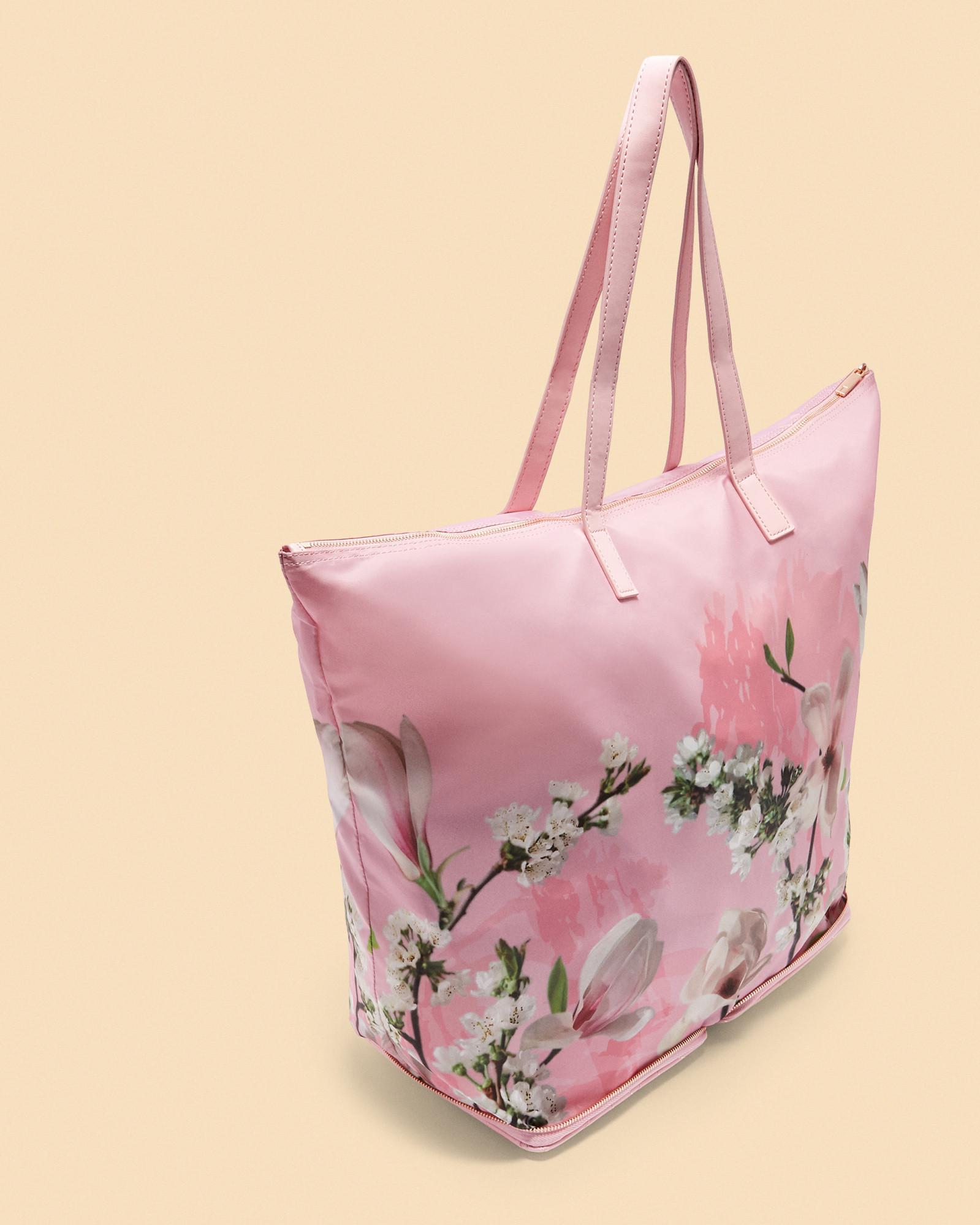 Ted Baker Harmony Nylon Foldaway Shopper Bag In Pink Lyst
