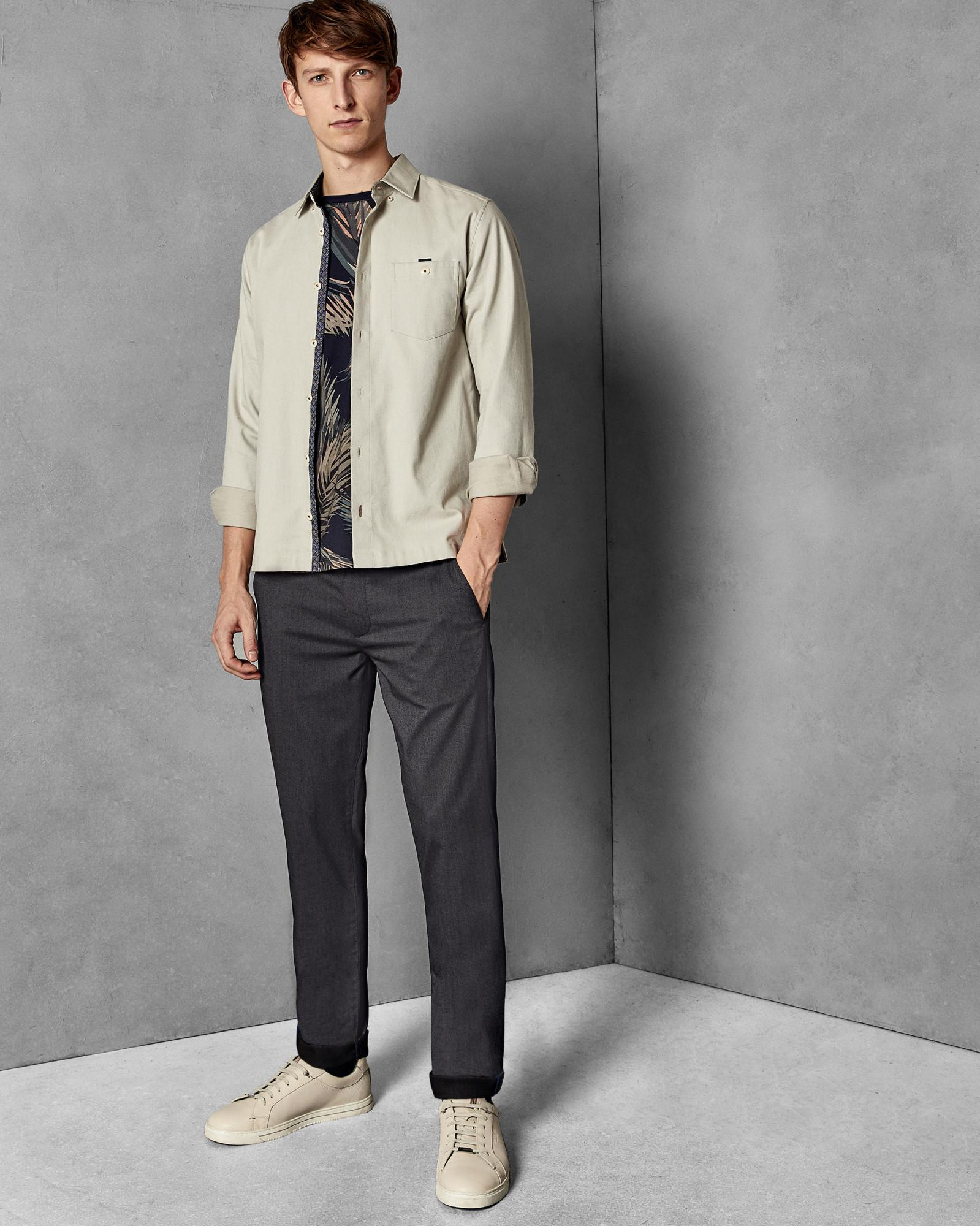 9950373f33dd5b Lyst - Ted Baker Slim Fit Trousers in Gray for Men