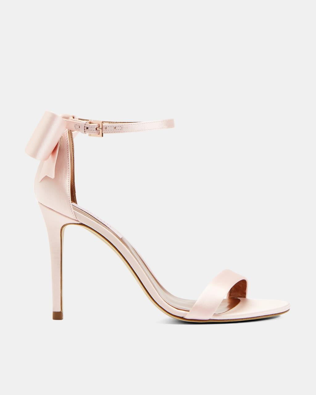 Ted Baker Leather Bow Heeled Sandals in