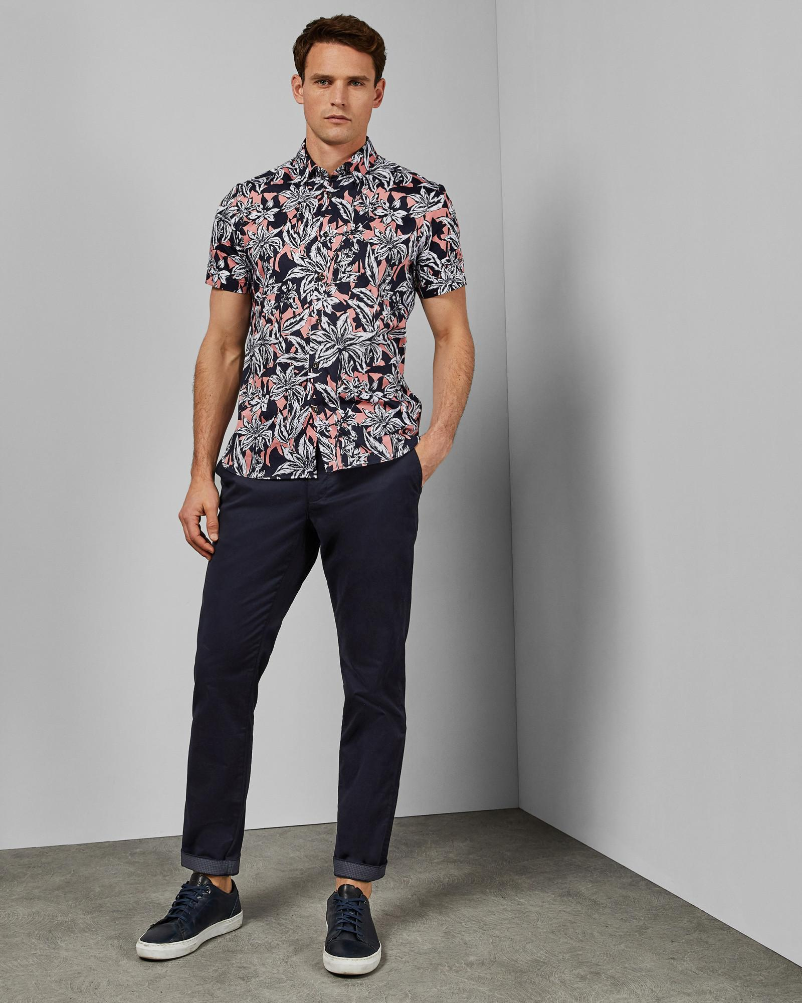 0433056b3cf7 Ted Baker Floral Print Cotton Shirt for Men - Lyst