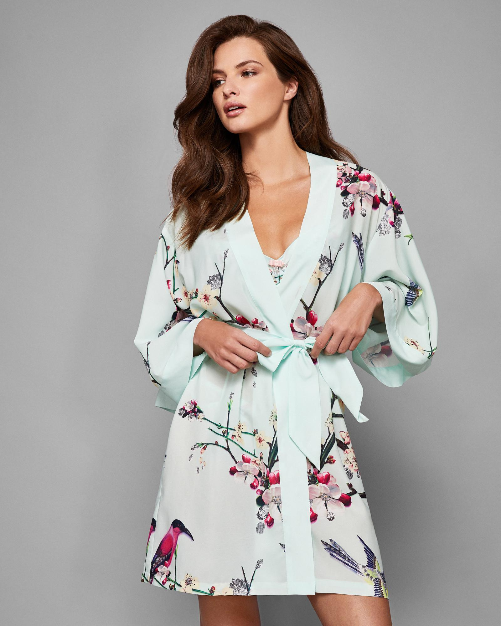 d479484ca Ted Baker Flight Of The Orient Kimono Robe - Lyst