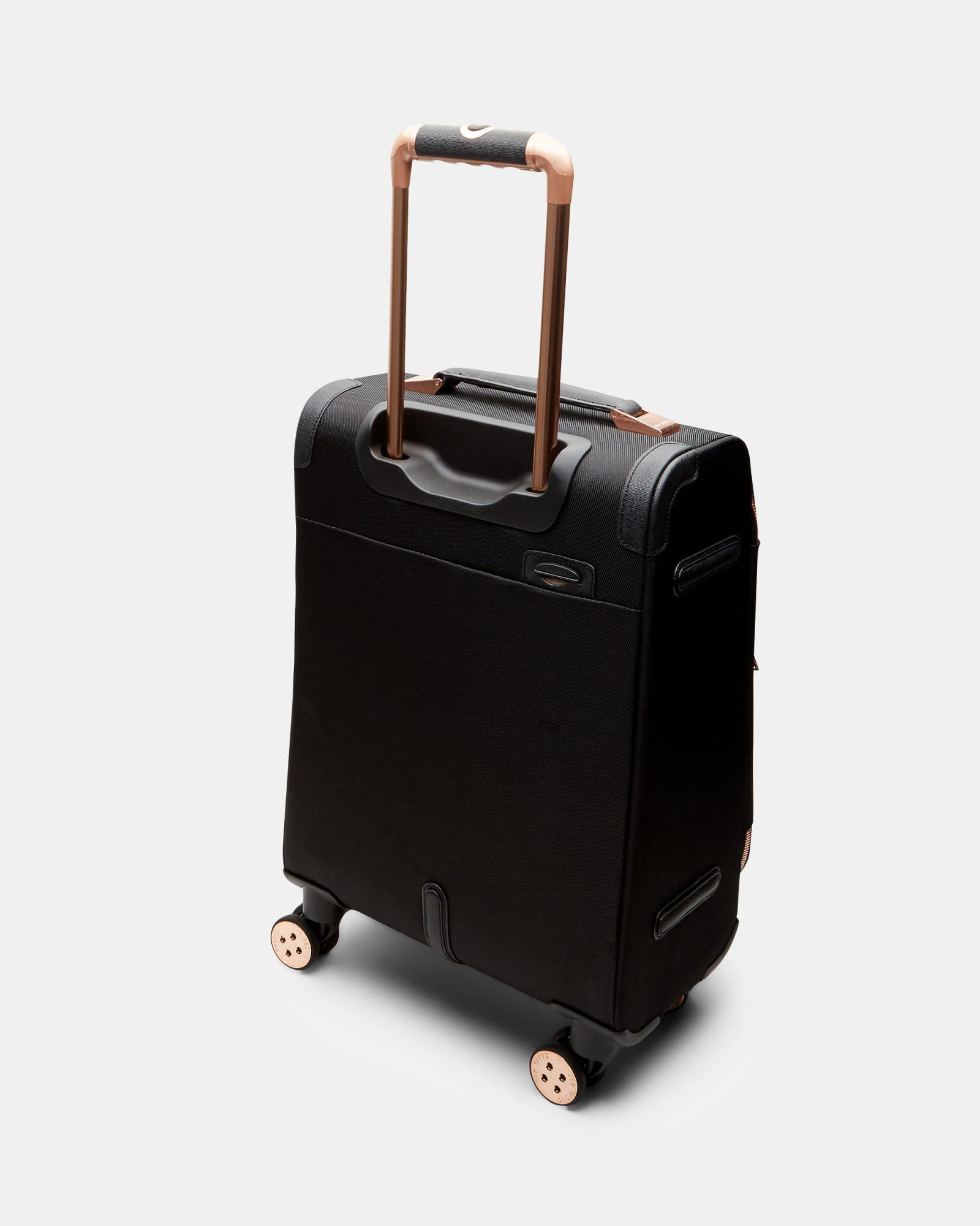 81f70904163e2 Lyst - Ted Baker Metallic Trim Small Suitcase in Black