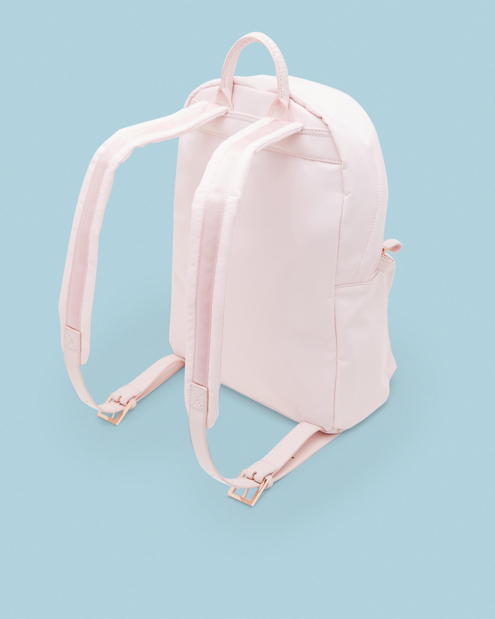 bd3ef16308af Ted Baker Textured Trim Backpack in Pink - Lyst