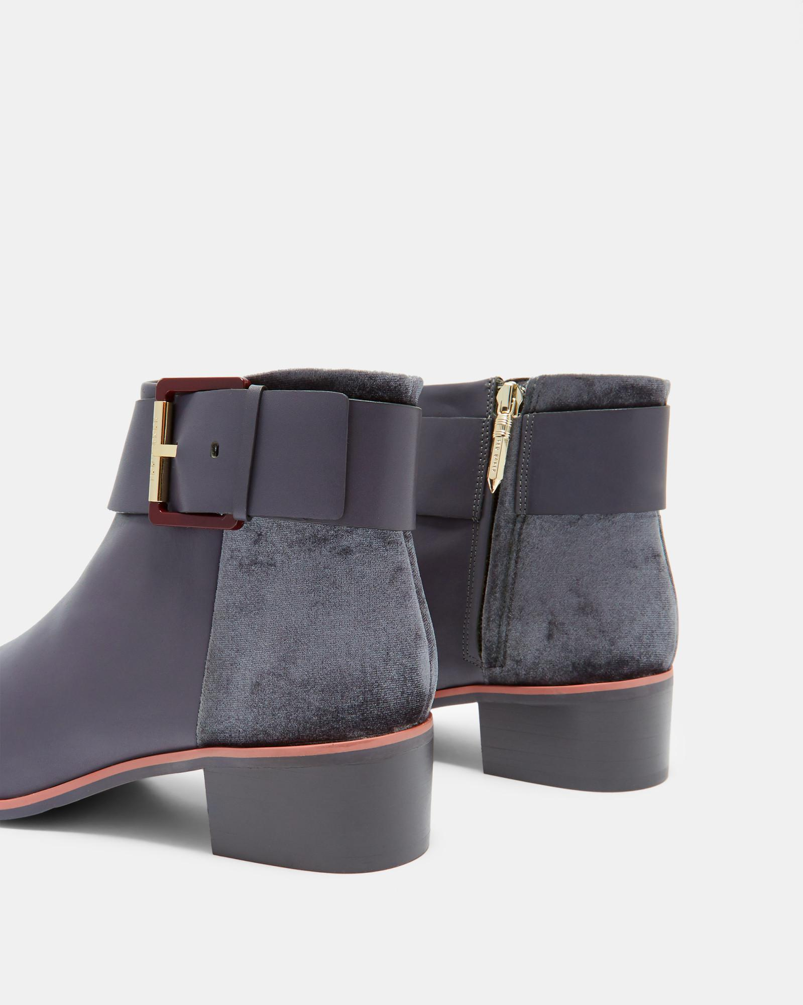 Ted Baker Leather Ankle Boots in Gray
