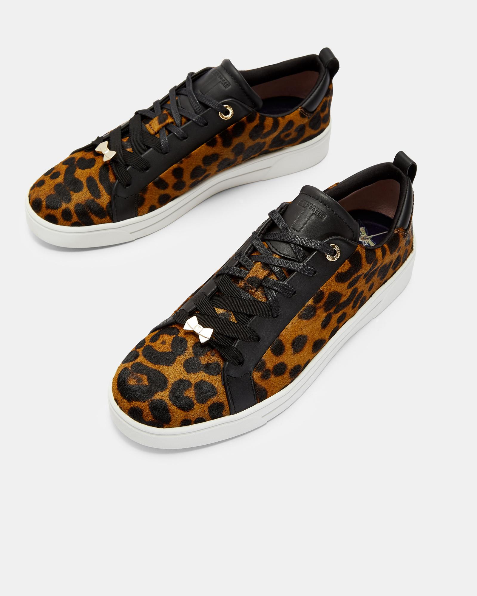 Ted Baker Lace Leopard Print Trainers